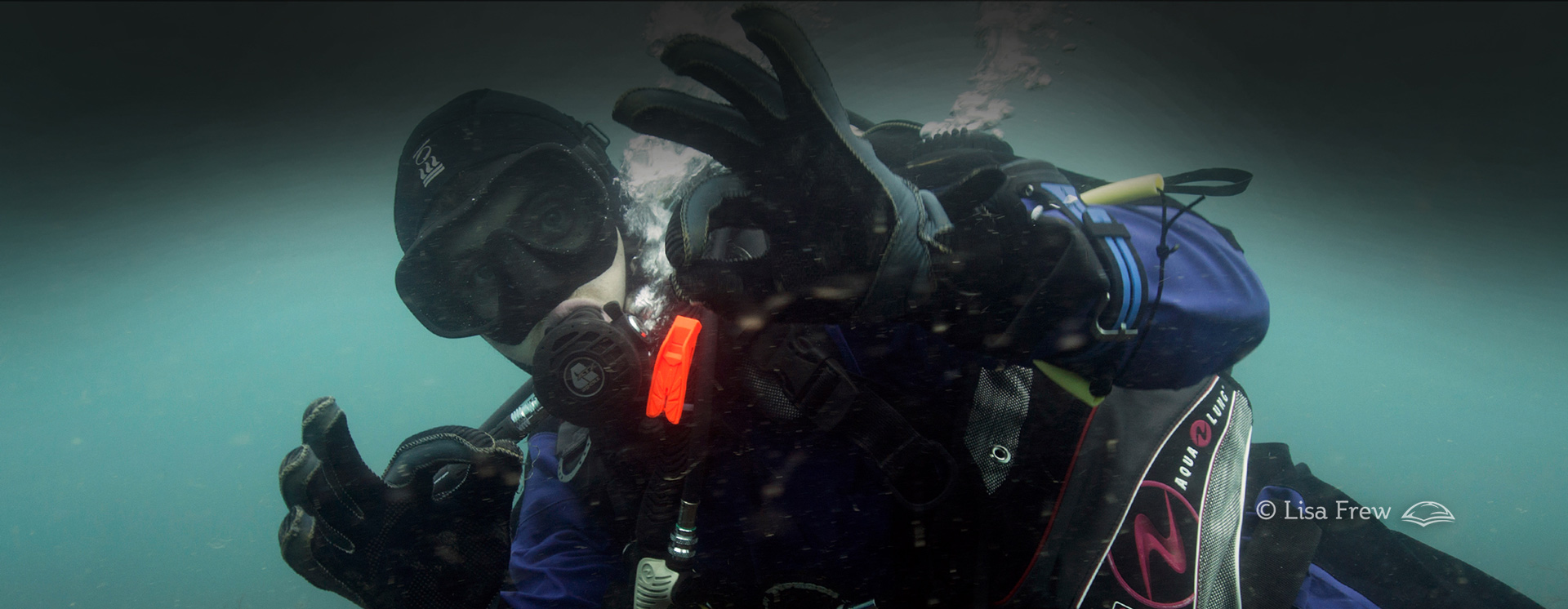 Image of diver on PADI drysuit diver specialty course