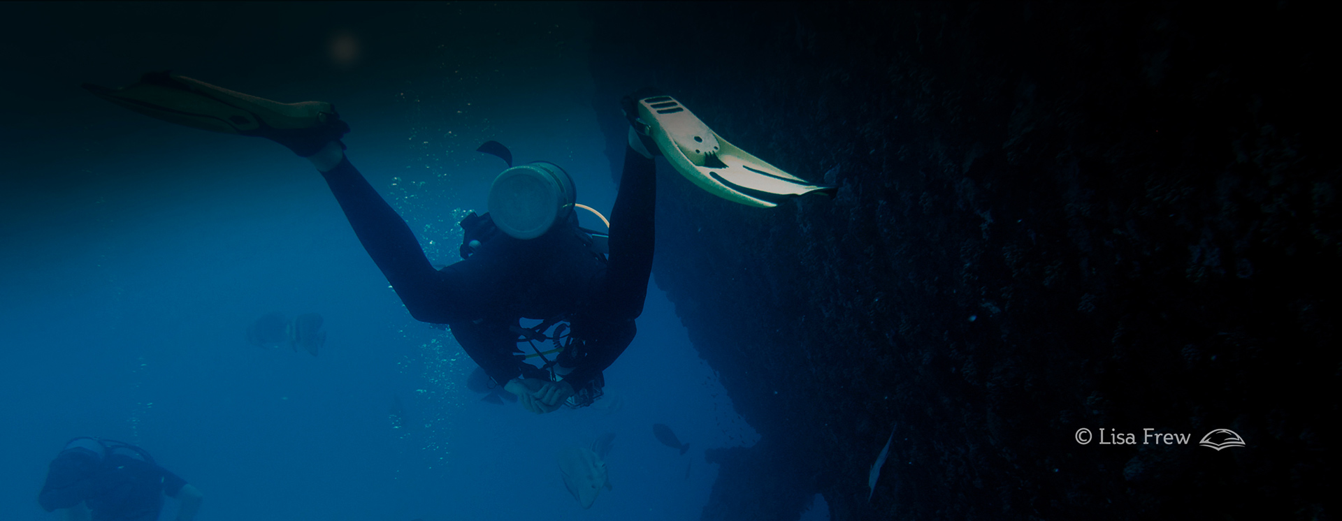 Image of diver on PADI wreck diver specialty course