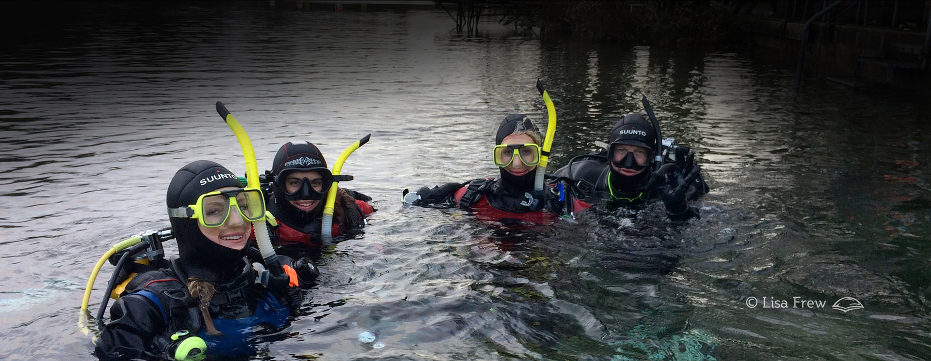 Image of divers on Dive South scuba diving courses